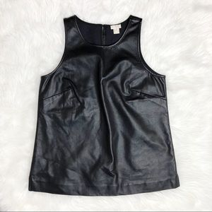J. Crew Factory faux-leather shell Tank Size 4